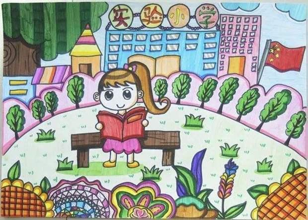 [阳光下成长绘画作品儿童画欣赏]阳光成长绘画图片